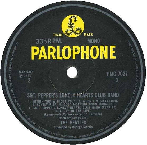 thebeatles sgtpeppers onely label